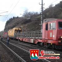 Zugskollision / Bahnböschungsbrand Penk